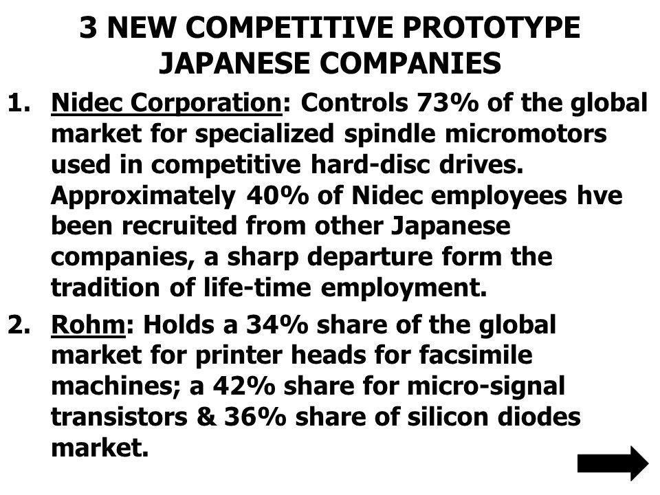 3 NEW COMPETITIVE PROTOTYPE JAPANESE COMPANIES