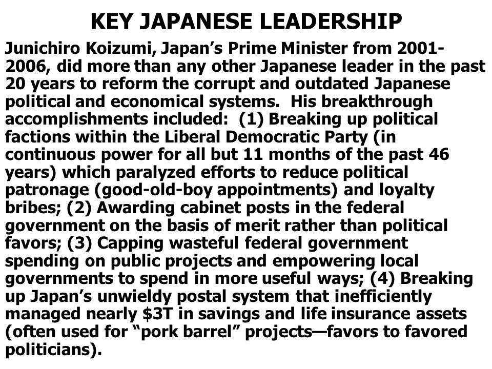 KEY JAPANESE LEADERSHIP