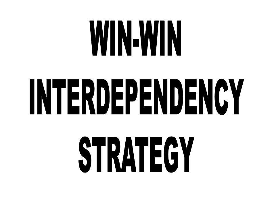 WIN-WIN INTERDEPENDENCY STRATEGY