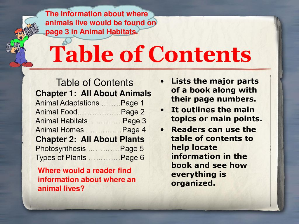 Table of Contents Table of Contents Chapter 1: All About Animals