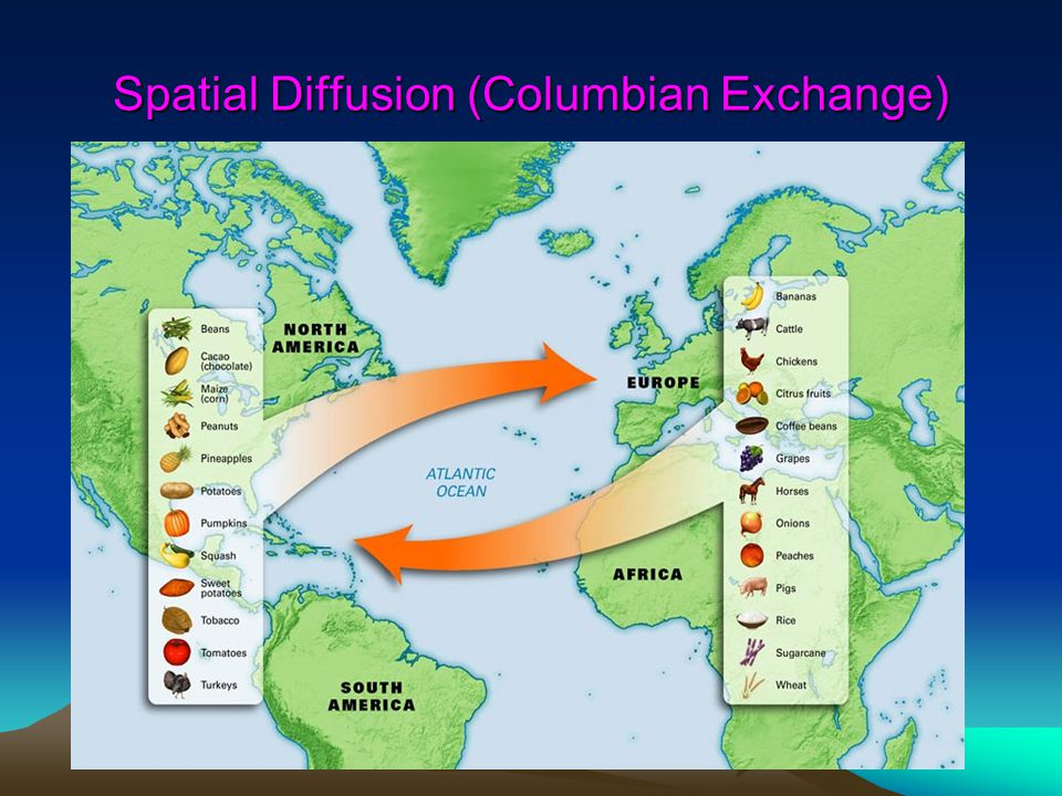Spatial Diffusion (Columbian Exchange)
