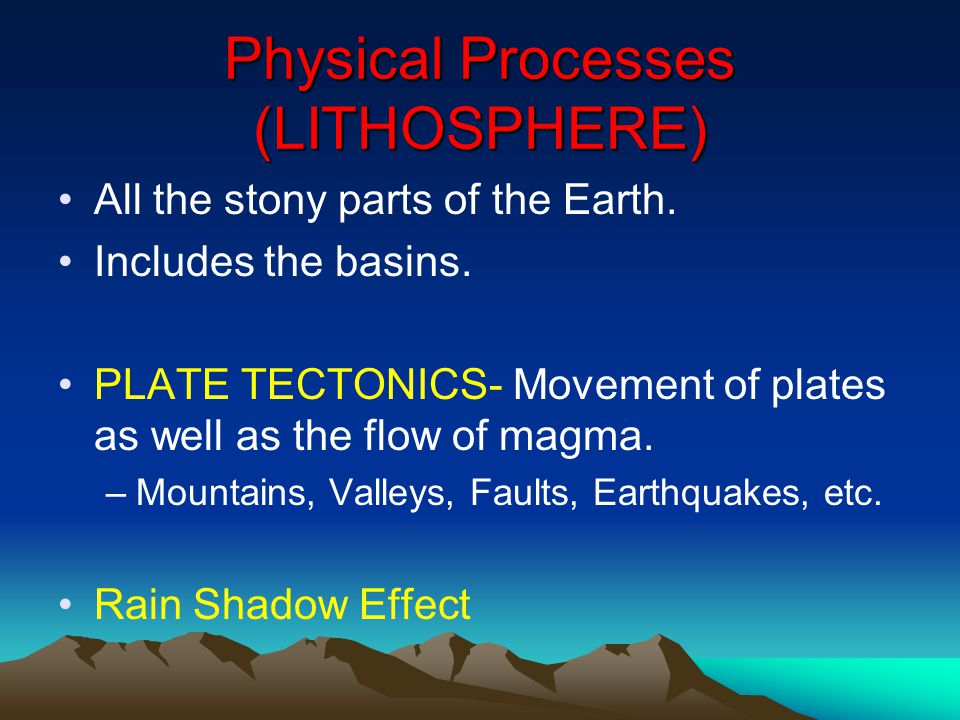 Physical Processes (LITHOSPHERE)