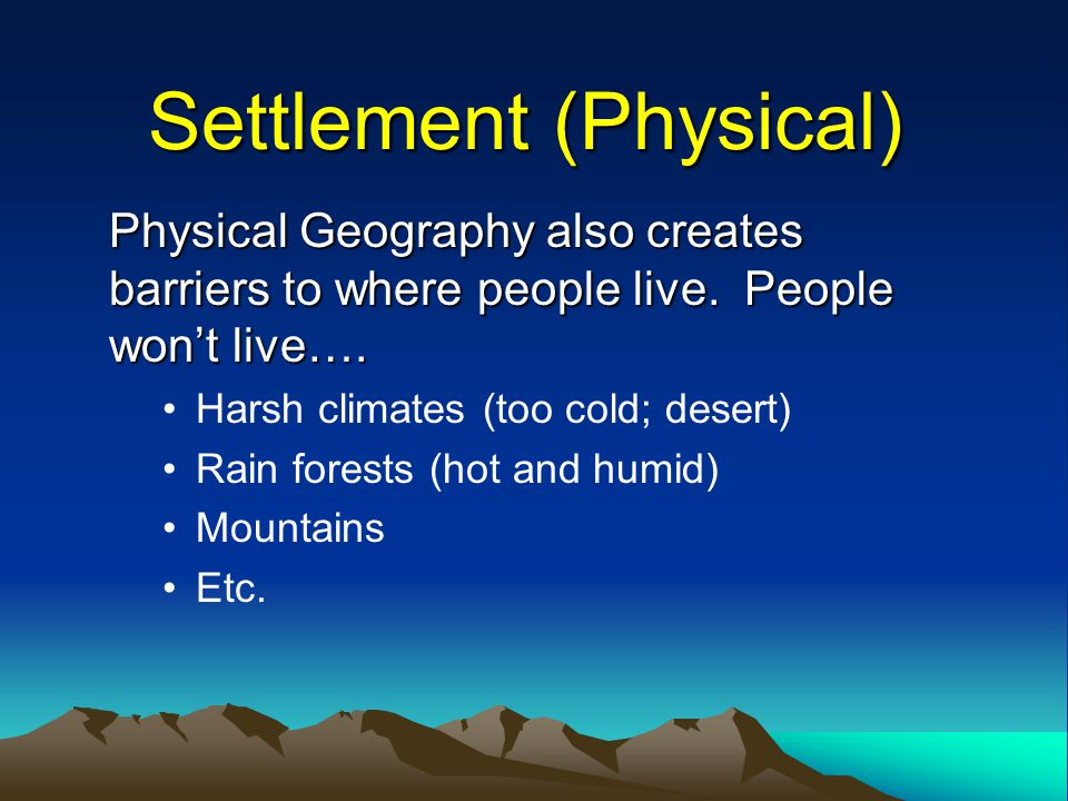 Settlement (Physical)