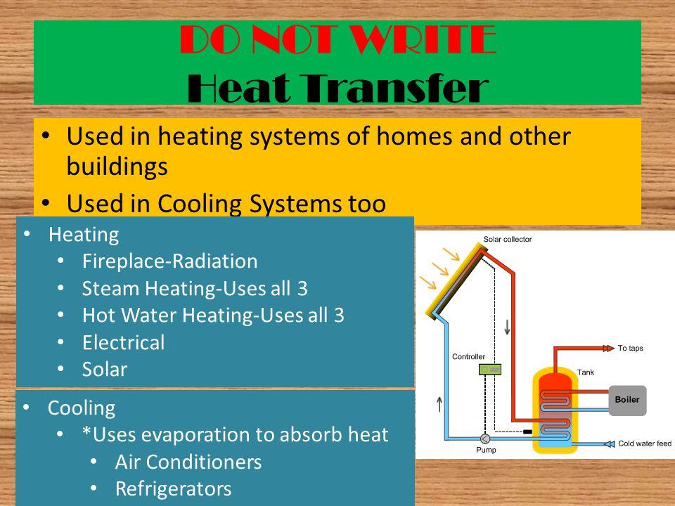 DO NOT WRITE Heat Transfer