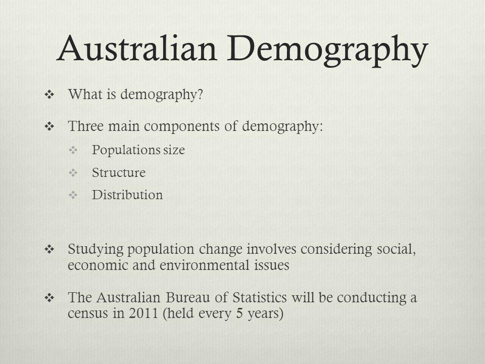 Australian Demography