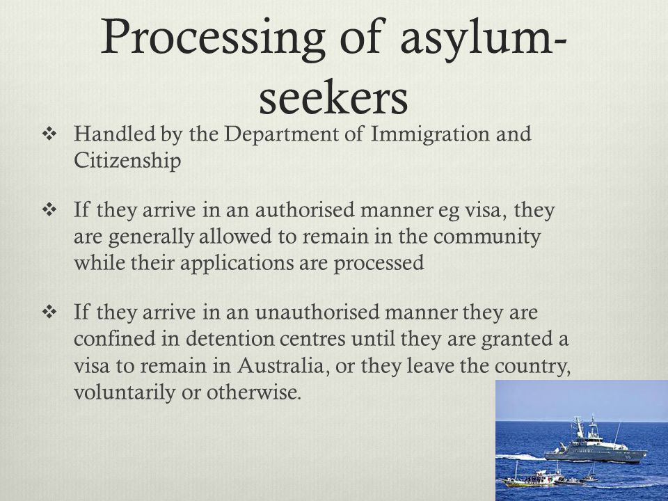 Processing of asylum-seekers