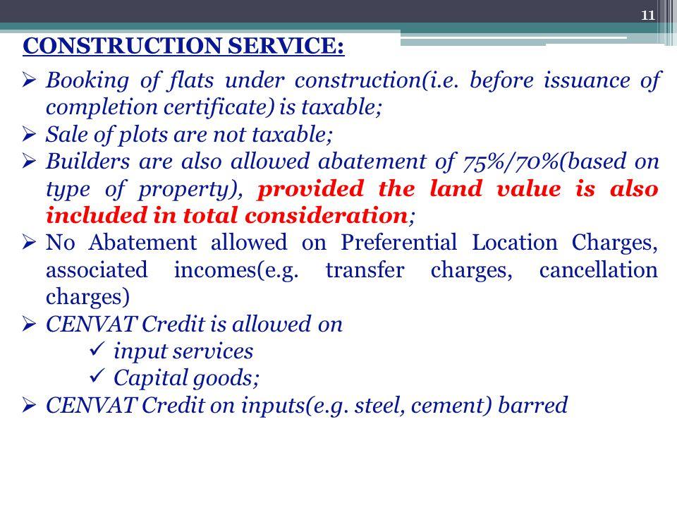 CONSTRUCTION SERVICE: