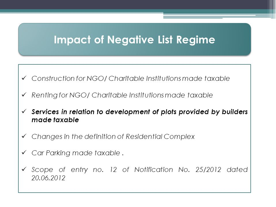 Impact of Negative List Regime
