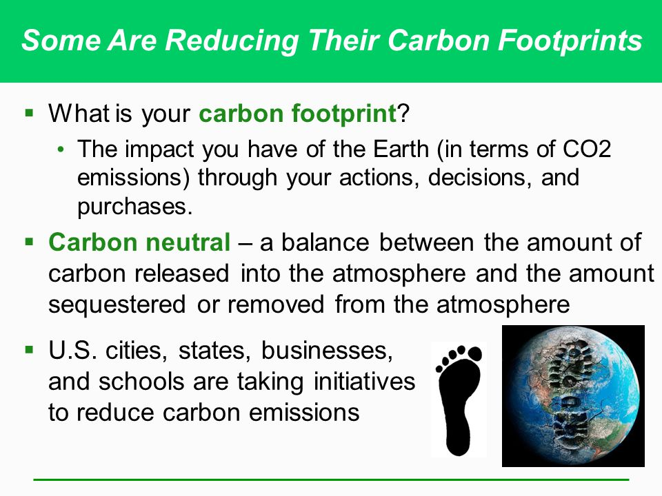 Some Are Reducing Their Carbon Footprints