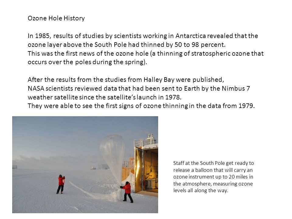 After the results from the studies from Halley Bay were published,