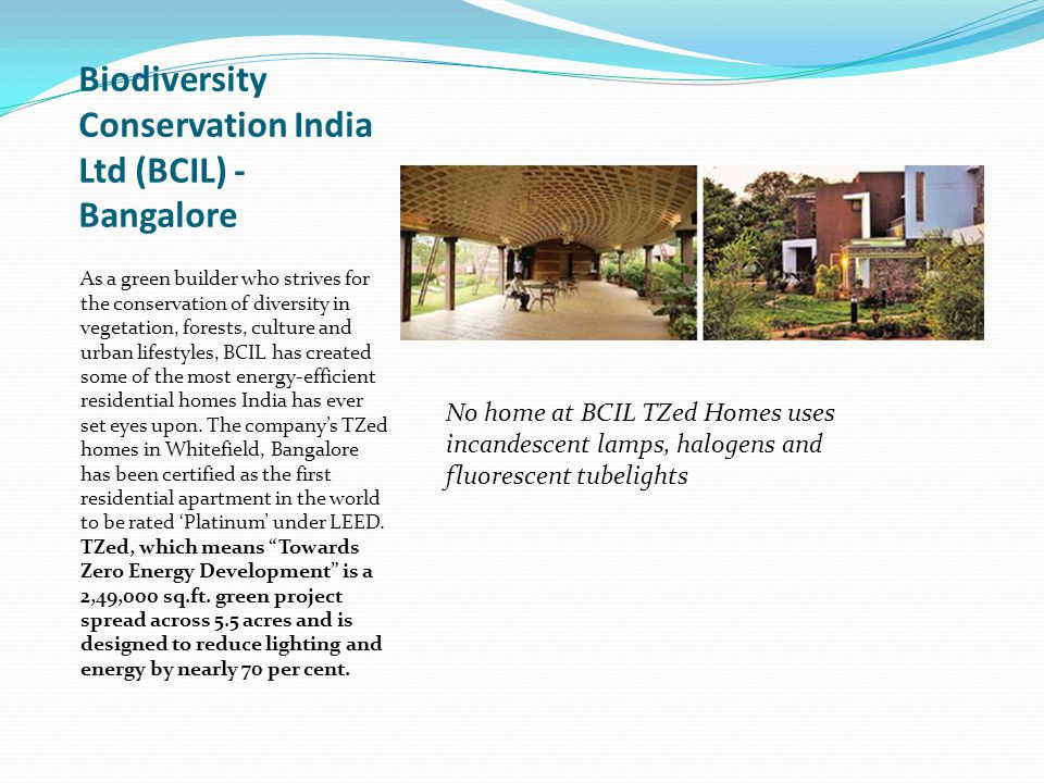 Biodiversity Conservation India Ltd (BCIL) - Bangalore