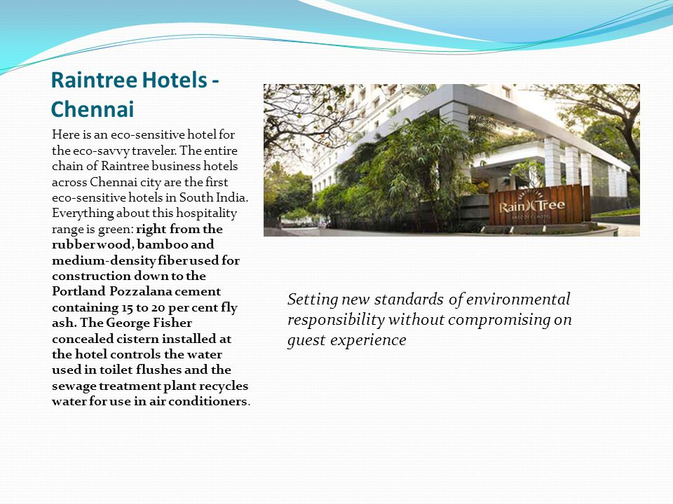 Raintree Hotels - Chennai