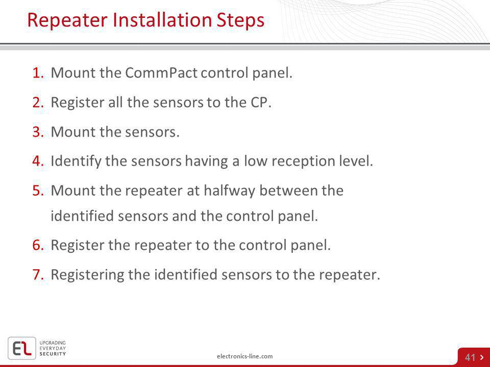 Repeater Installation Steps