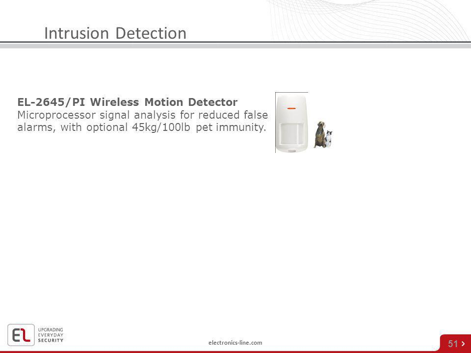 Intrusion Detection EL-2645/PI Wireless Motion Detector