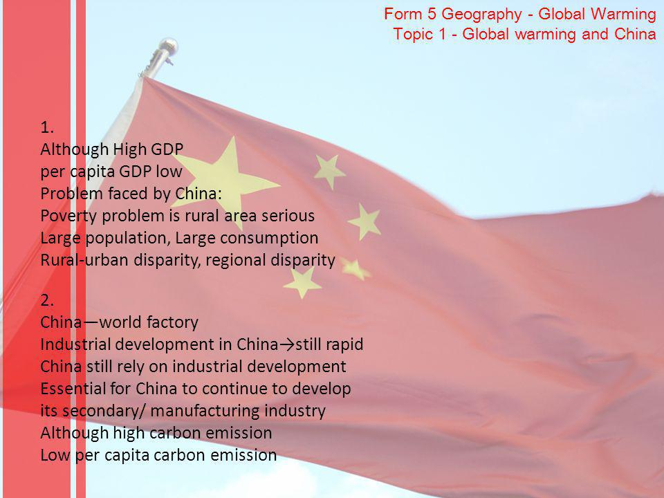 Form 5 Geography - Global Warming