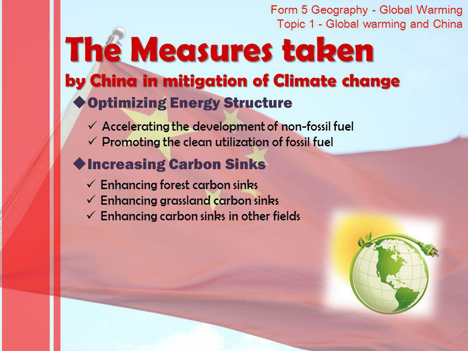The Measures taken by China in mitigation of Climate change