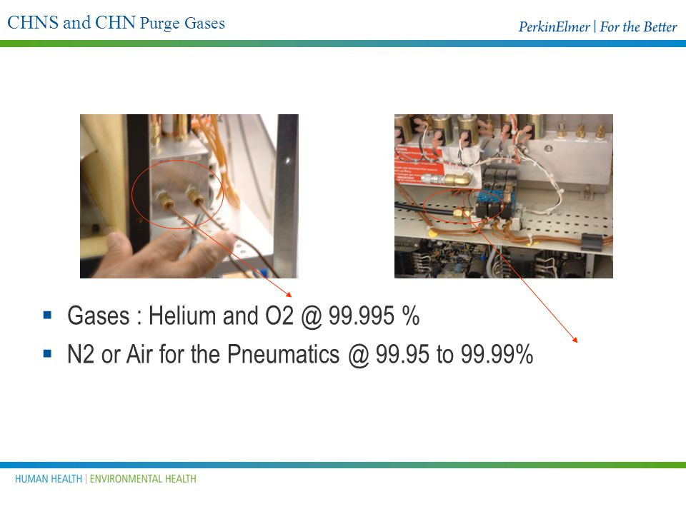 CHNS and CHN Purge Gases