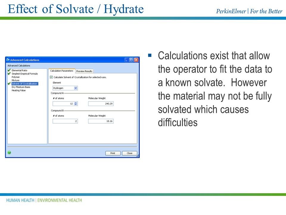 Effect of Solvate / Hydrate