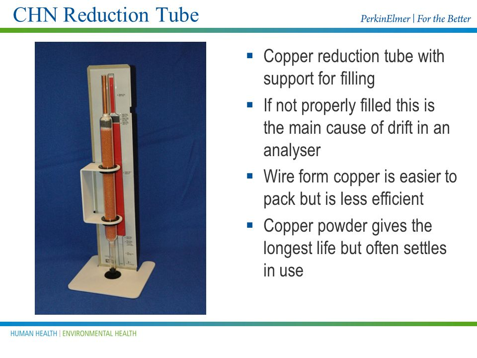 CHN Reduction Tube Copper reduction tube with support for filling