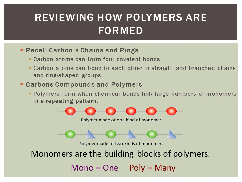 Reviewing How Polymers are Formed