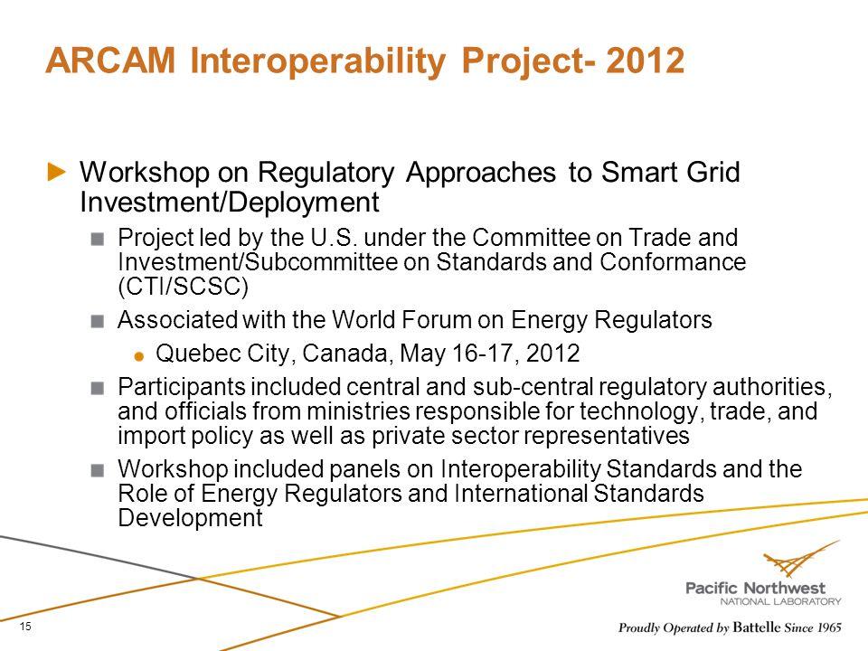 ARCAM Interoperability Project- 2012