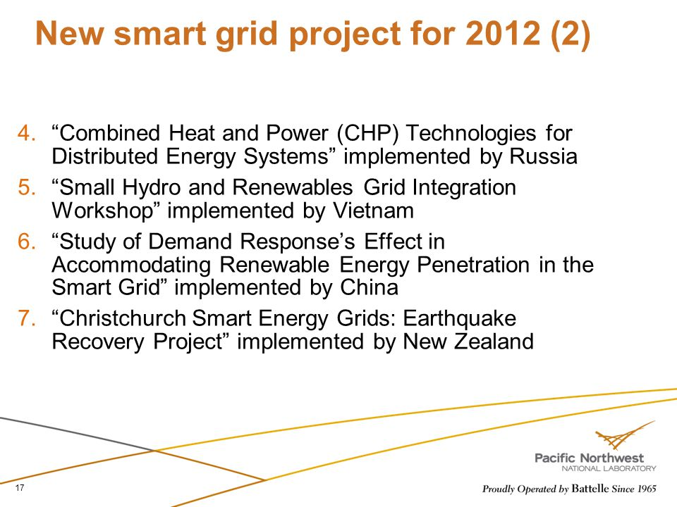 New smart grid project for 2012 (2)