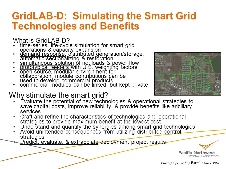 GridLAB-D: Simulating the Smart Grid Technologies and Benefits