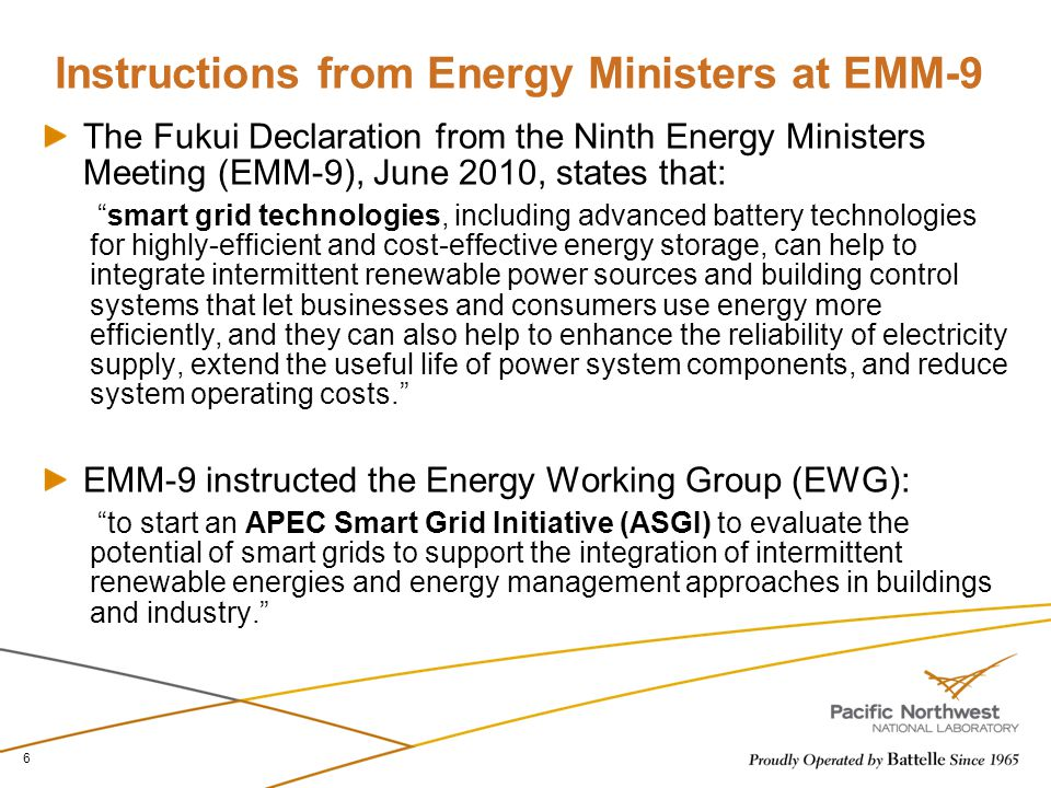 Instructions from Energy Ministers at EMM-9