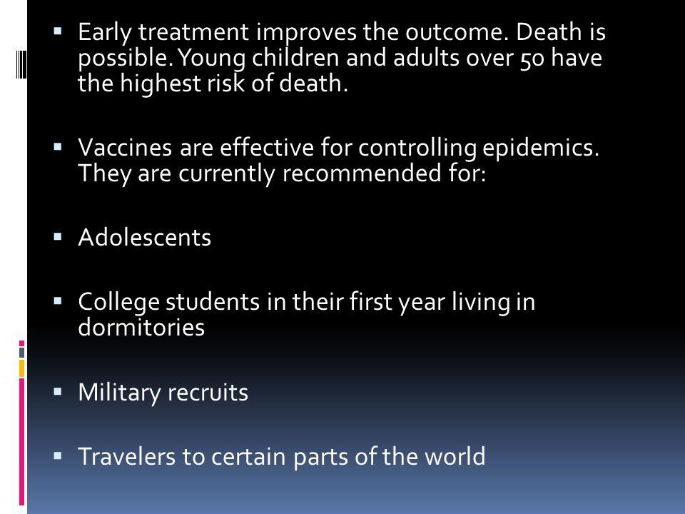 Early treatment improves the outcome. Death is possible