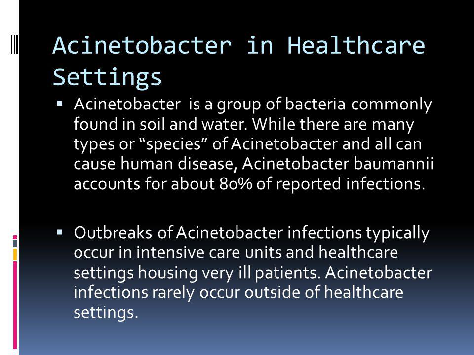 Acinetobacter in Healthcare Settings