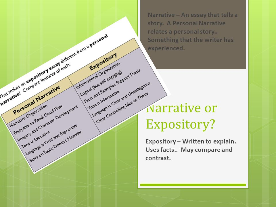 Narrative or Expository