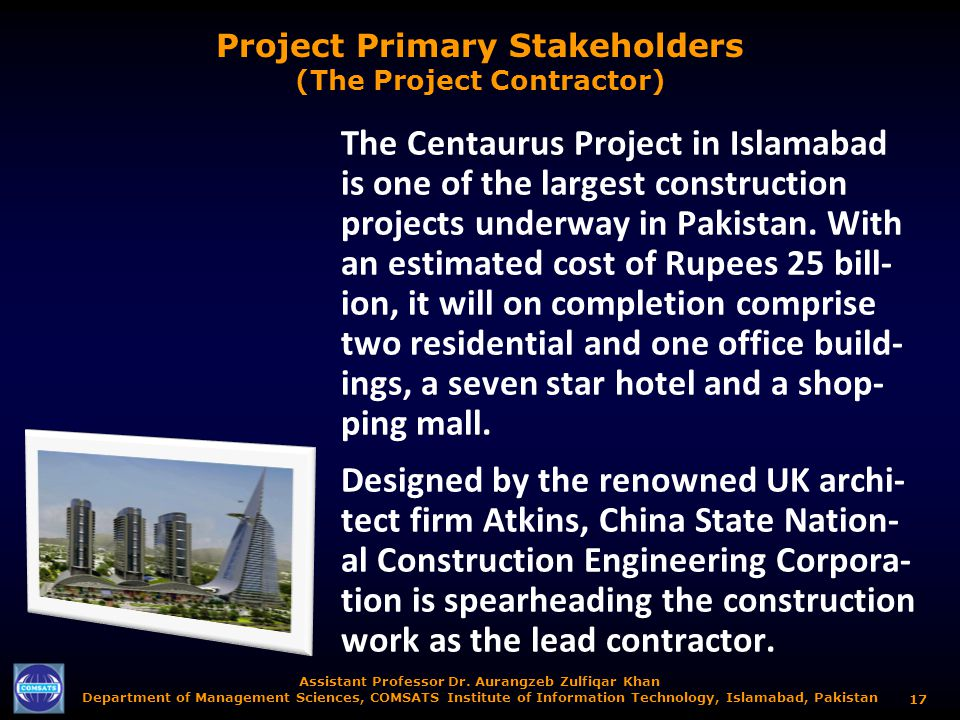 Project Primary Stakeholders (The Project Contractor)