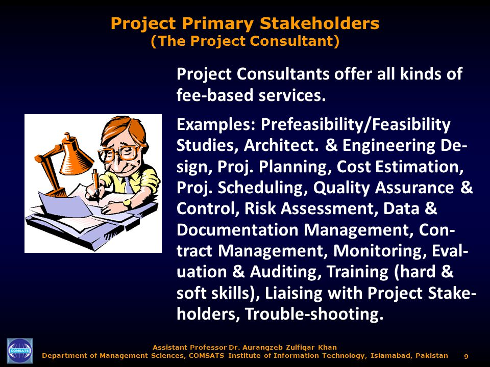 Project Primary Stakeholders (The Project Consultant)