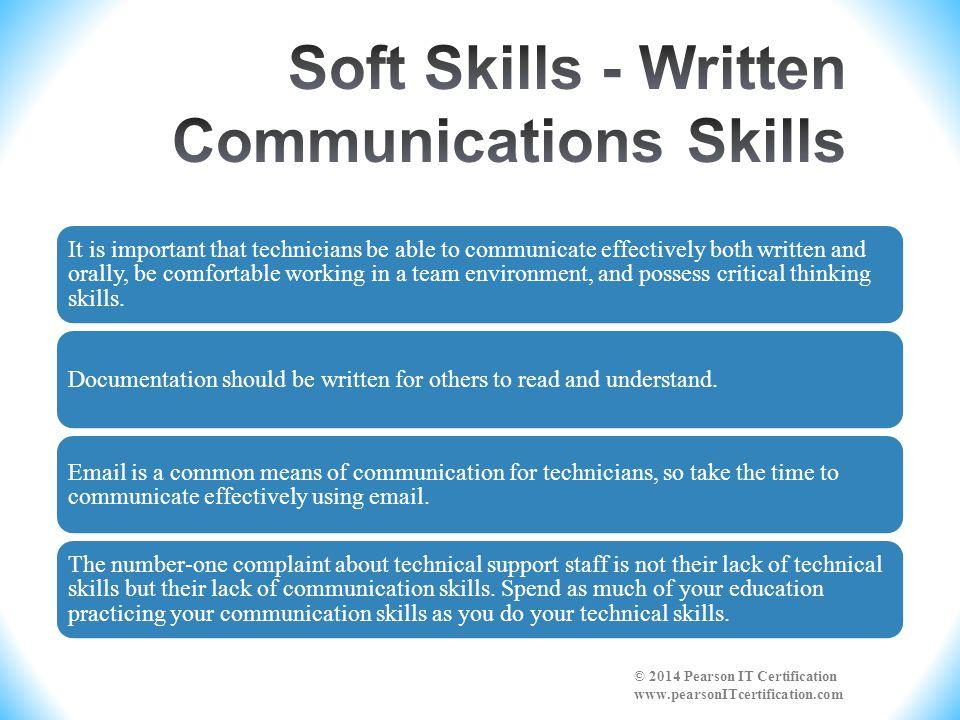 Soft Skills - Written Communications Skills