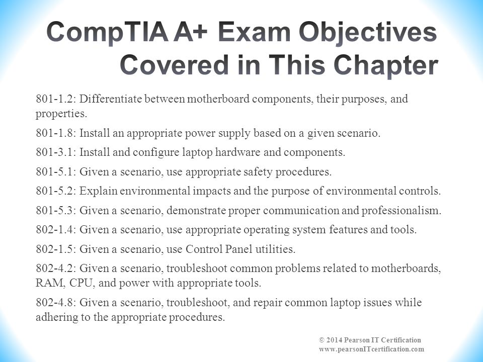CompTIA A+ Exam Objectives Covered in This Chapter