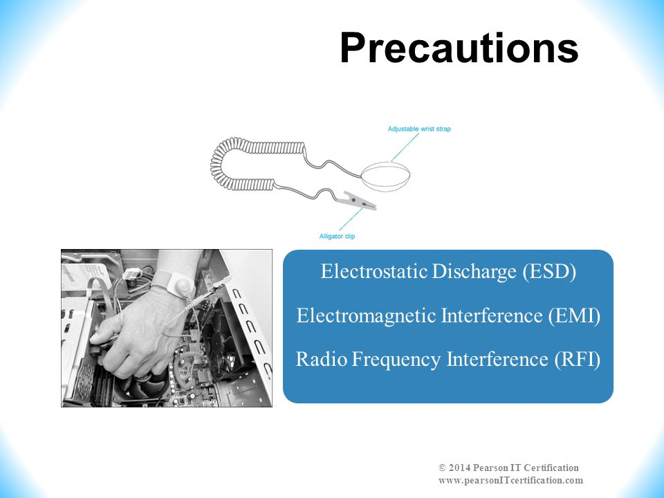 Precautions Electrostatic Discharge (ESD) Electromagnetic Interference (EMI) Radio Frequency Interference (RFI)