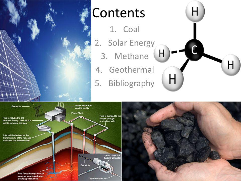 Coal Solar Energy Methane Geothermal Bibliography