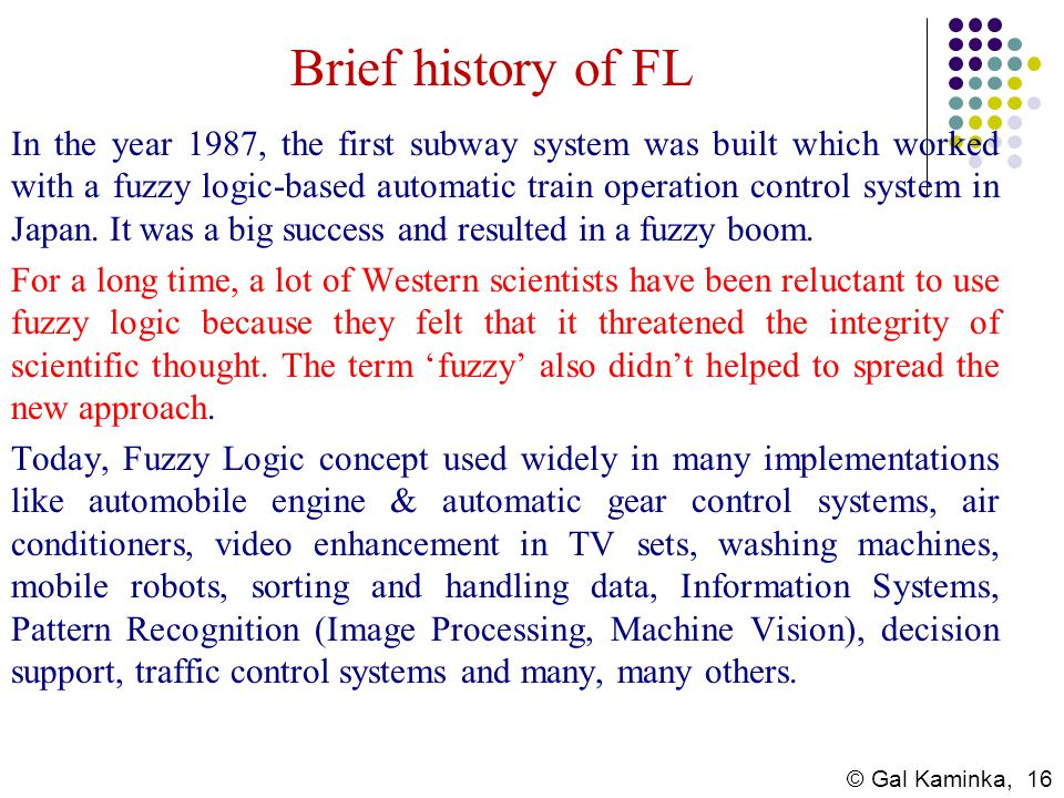 Brief history of FL