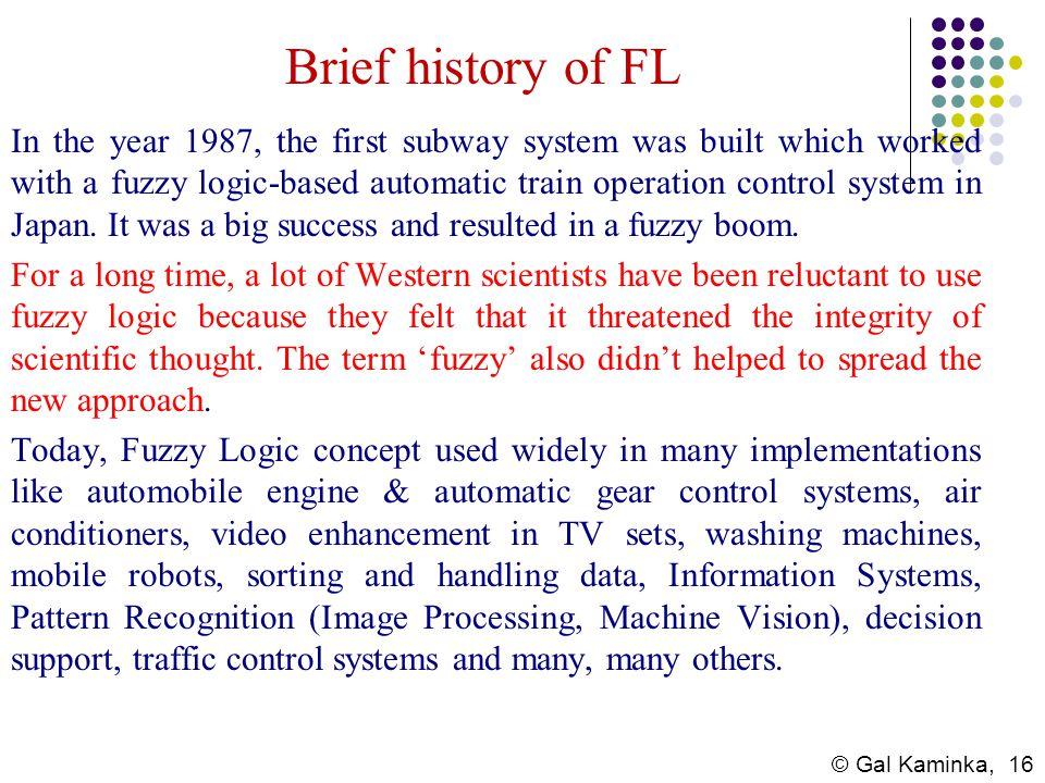 Brief history of FL