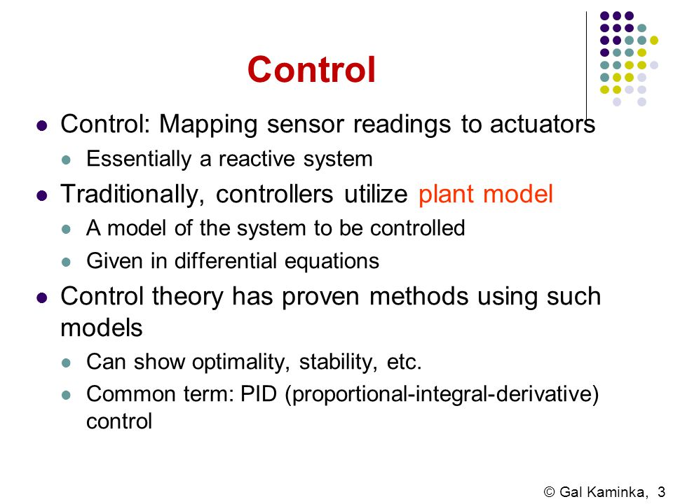 Control Control: Mapping sensor readings to actuators