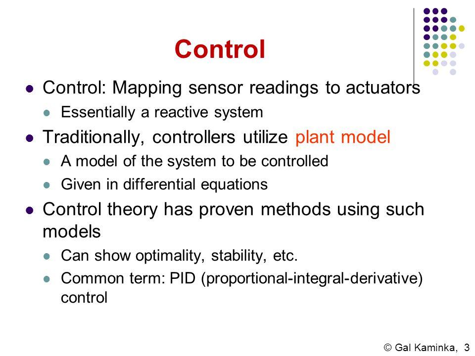Control Control: Mapping sensor readings to actuators