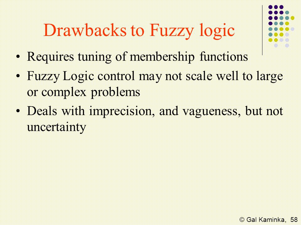 Drawbacks to Fuzzy logic