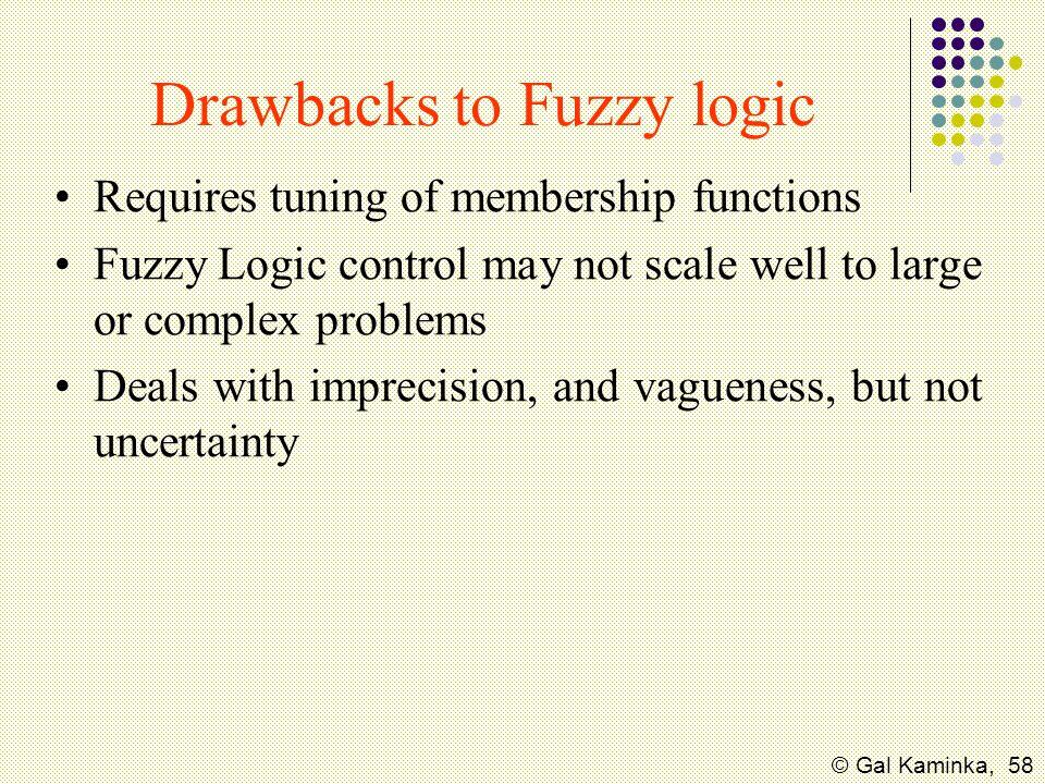 Drawbacks to Fuzzy logic