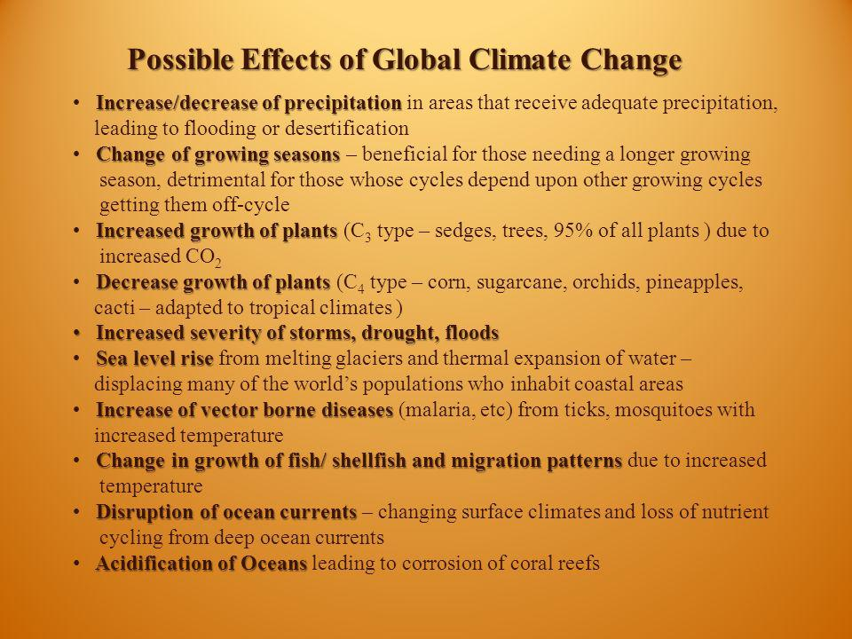 Possible Effects of Global Climate Change