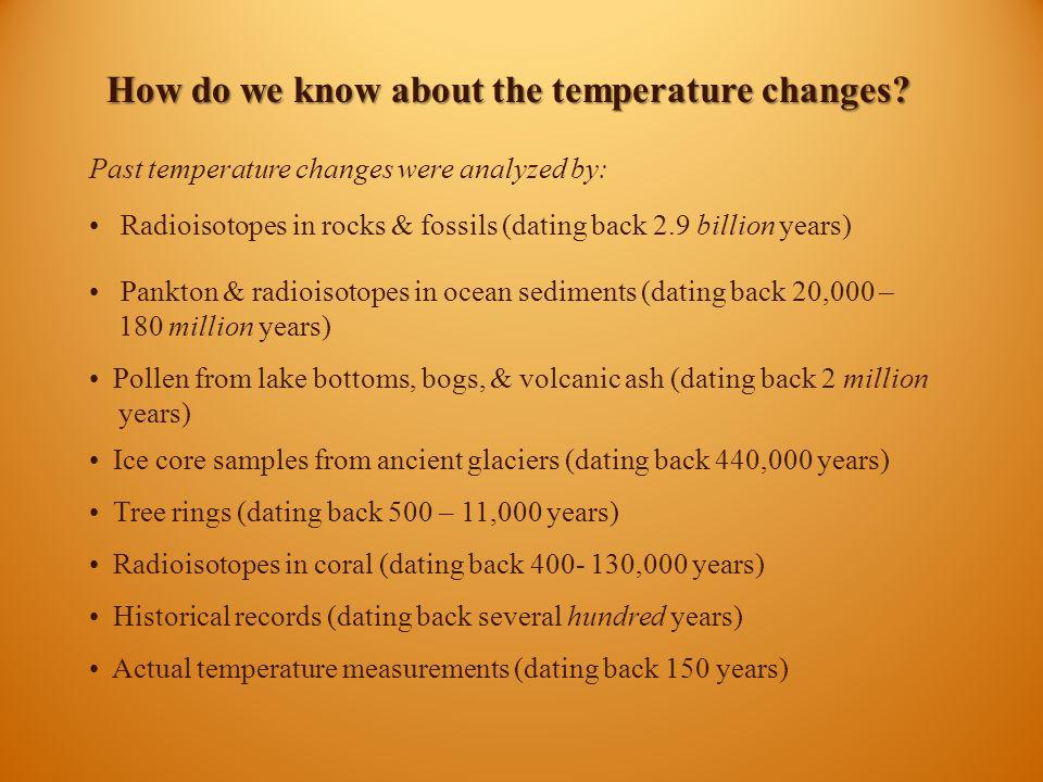 How do we know about the temperature changes