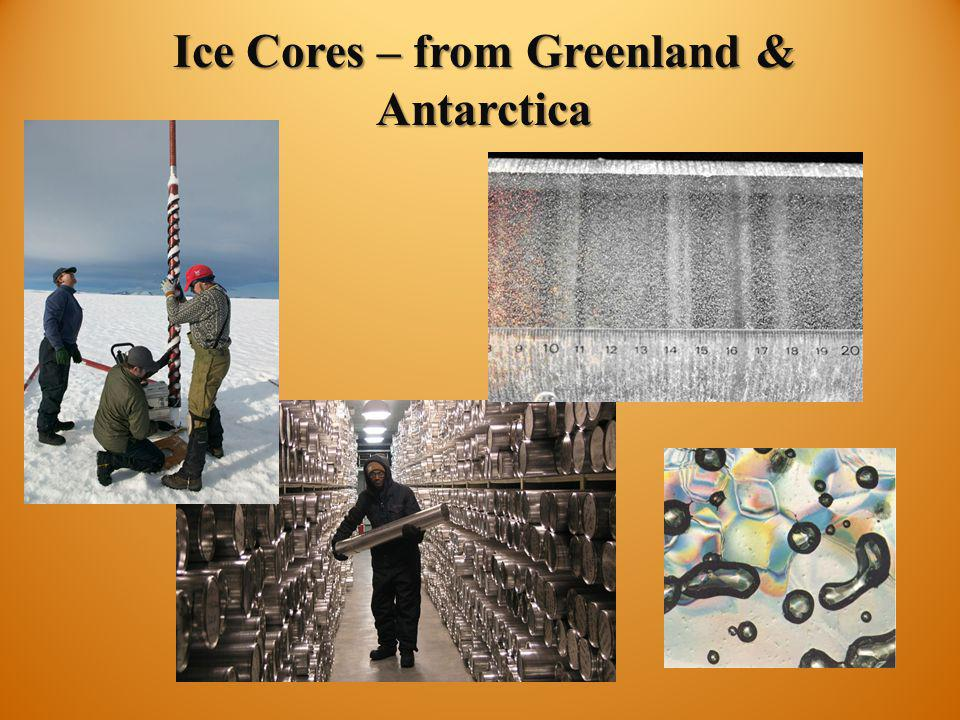 Ice Cores – from Greenland & Antarctica