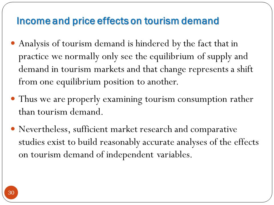 Income and price effects on tourism demand