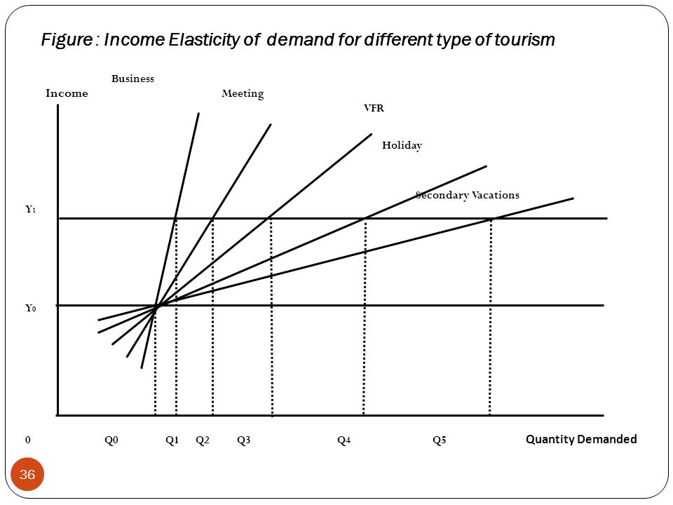 Figure : Income Elasticity of demand for different type of tourism