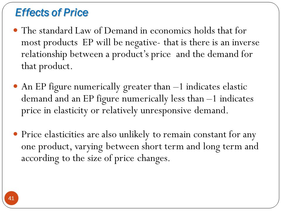 Effects of Price
