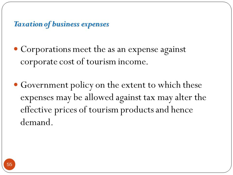 Taxation of business expenses